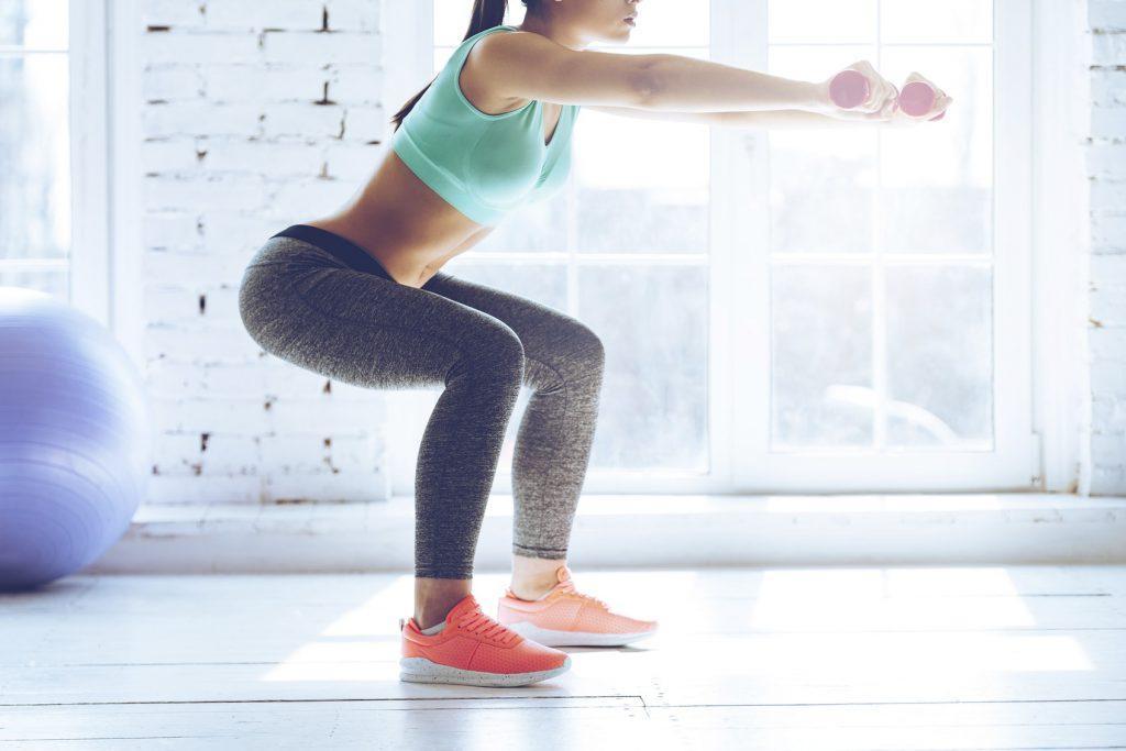 Упражнение Squat приседания