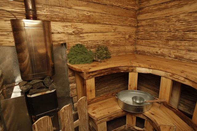 Русская баня после тренировки
