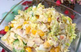 Лёгкий салат на 78 ккал