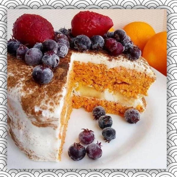 Морковный пп тортик, от которого не попрпвишься!