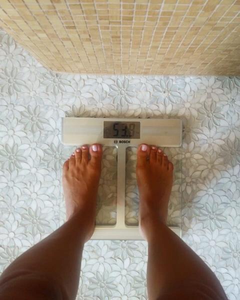 На фото мой вес сегодня