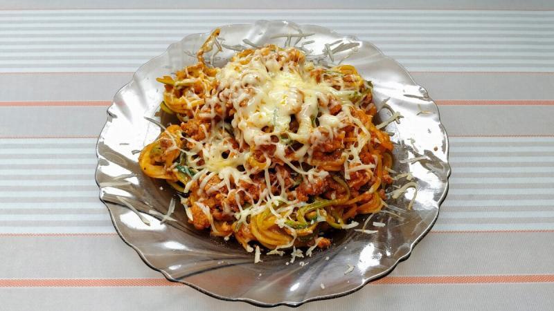 Кето спагетти из кабачка | Овощная паста a`la bolognese