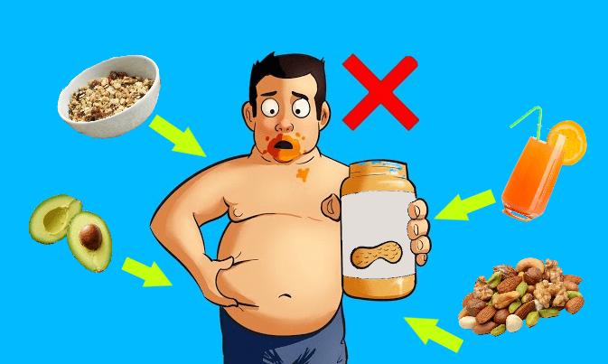 Полезная пища, которая заставляет вас толстеть